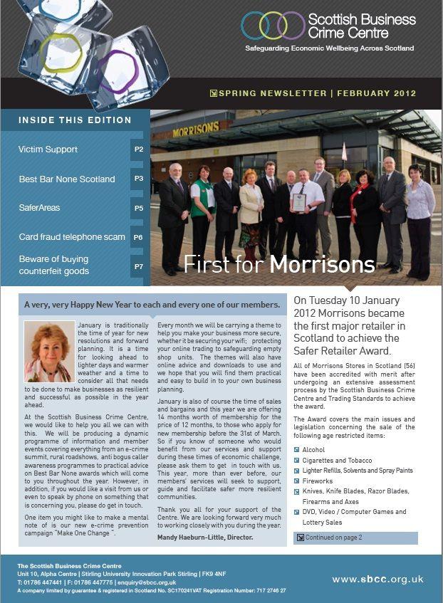 Scottish Business Crime Centre Newsletter Feb 2012 Cover
