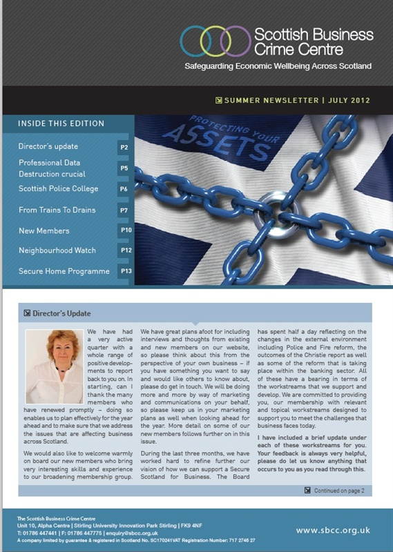 Scottish Business Crime Centre - summer cover