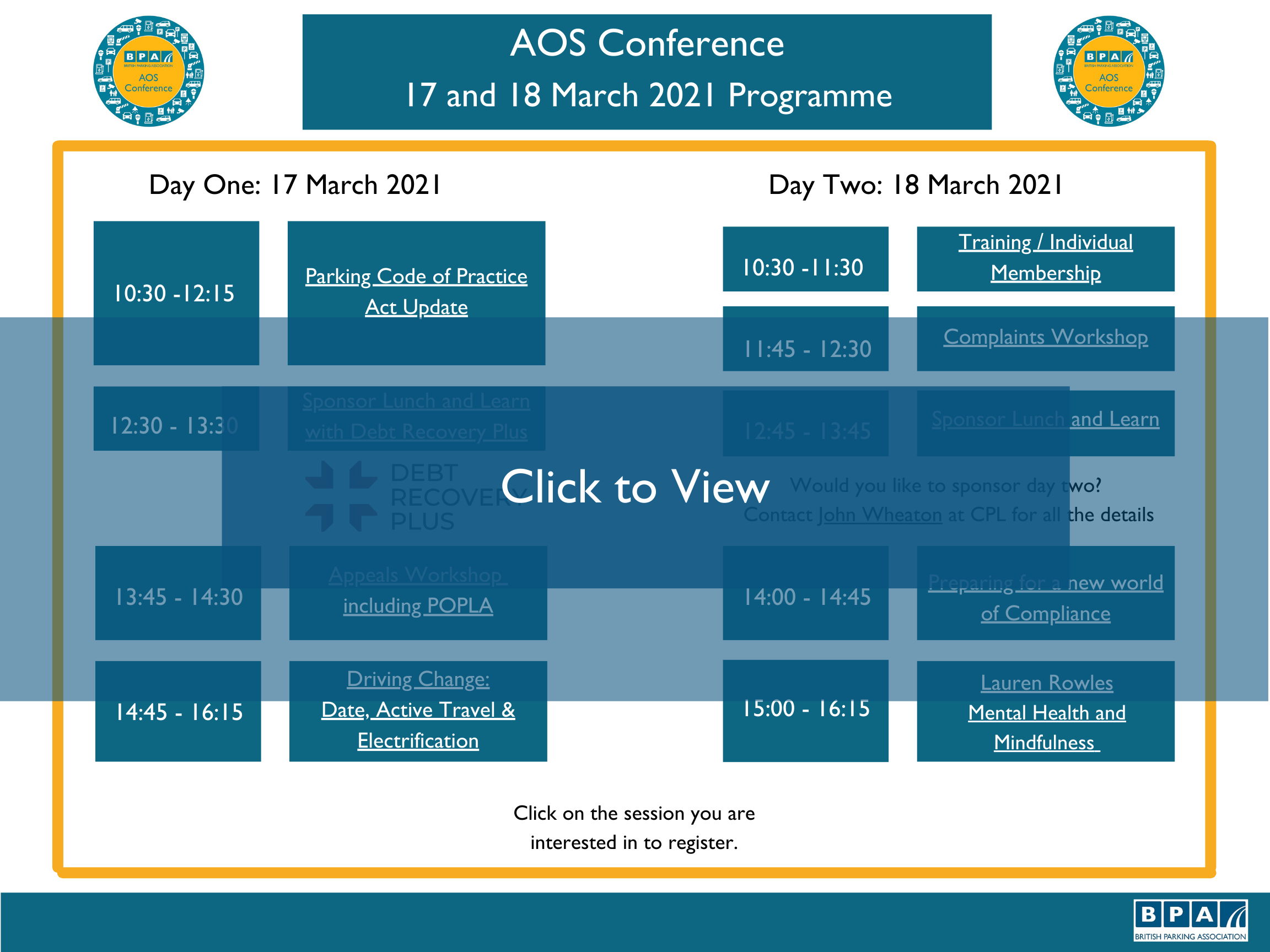 web page copy Linking Image AOS Conference